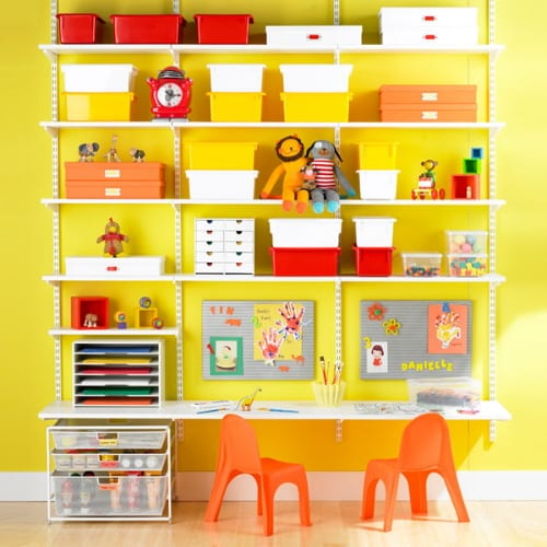 The Elfa Wall Mounted Shelf / Storage System from The Container Store 5