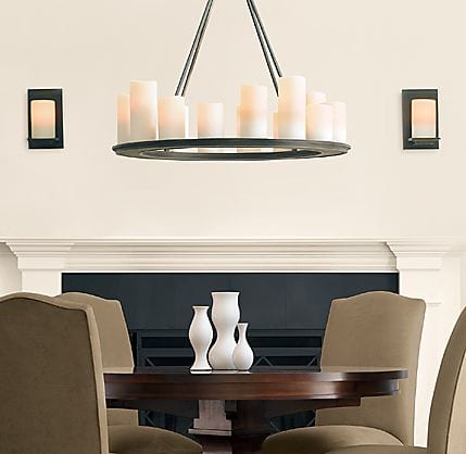 Candle Chandeliers from the Pillar Collection 9
