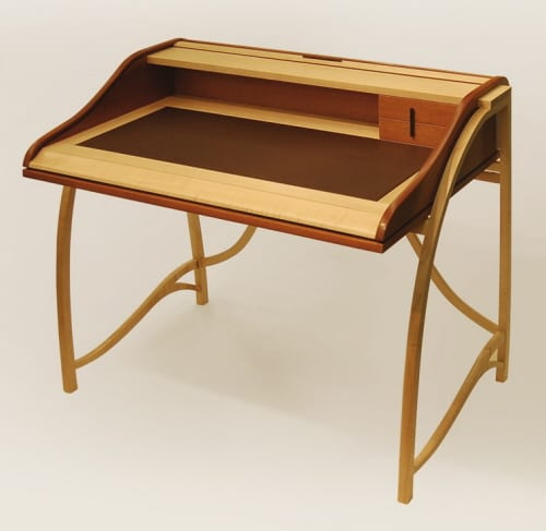 Hand Crafted Roll Top Desk in Mahogany by Reed Hansuld 9