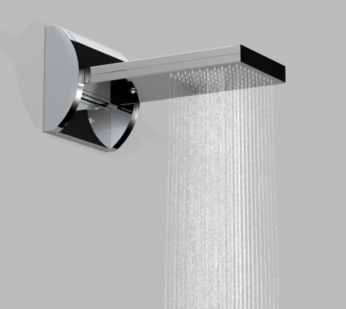 Shower Head Flow in Waterfall and Natural Rain Settings