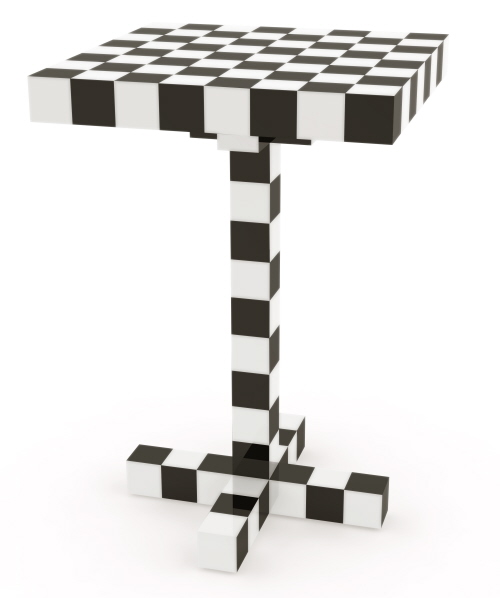 checkered chess table