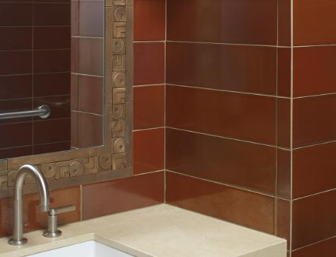 red brown wall tile