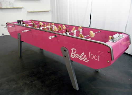 Barbie Foot :Table Foot Ball for the Girls