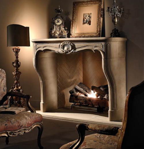 furniture and fireplace