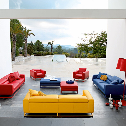 Modern Sofas with Vibrant Colors from Roche Bobois