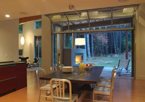 kitchen that opens to outdoors