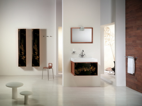 minimal bathroom furnishings