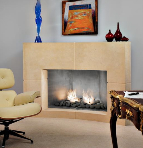 natural stone fireplaces