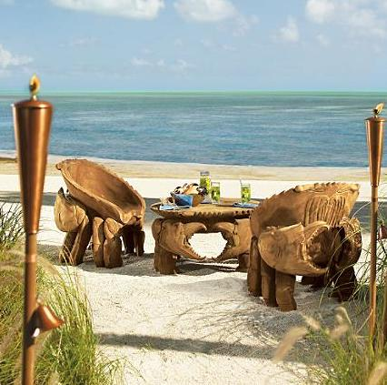 teak beach furniture crab table and chairs