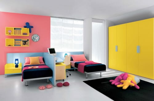 two kids beds in one room