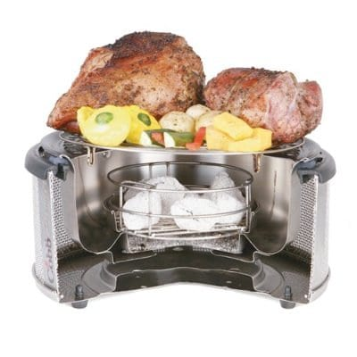 cobb stianless steel grill and smoker