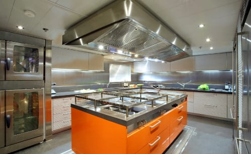 modern yacht kitchens and interiors