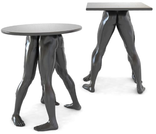 bat table with human legs