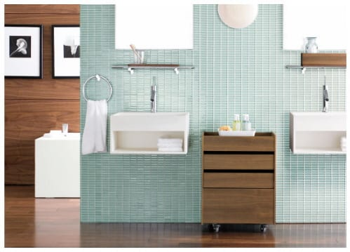 bathroom cabinets and storage shelves