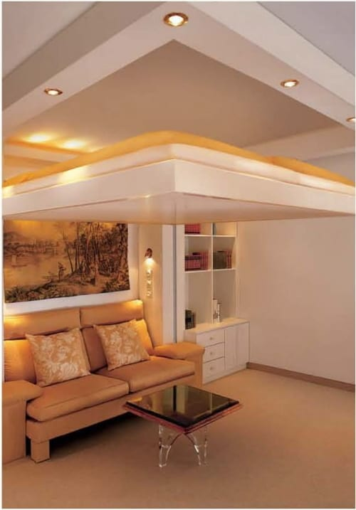 beds that lower from ceiling