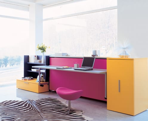 fold out bed desk combination