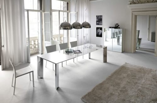 Harlem & Brera Round Dining Table and Chairs from Natuzzi