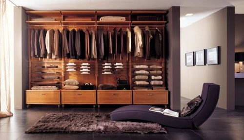 closet remodeling in a house