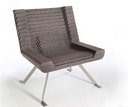 Relief Chair : Stylish Felt Furniture by Mickus Project of New York