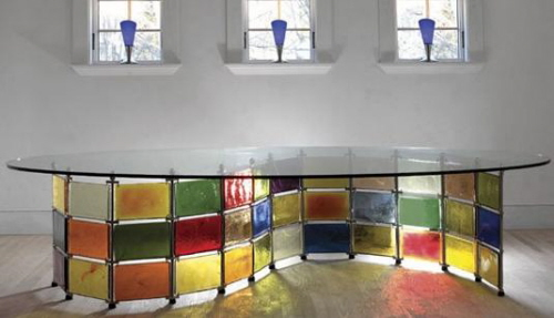 stained glass furniture