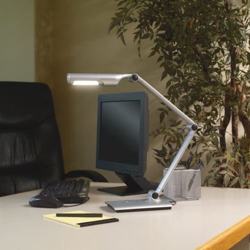 desk lamp with battery power backup