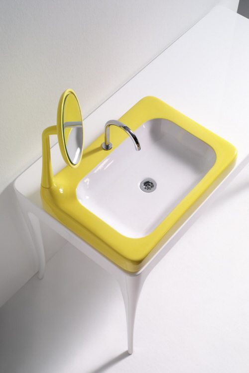 yellow sinks