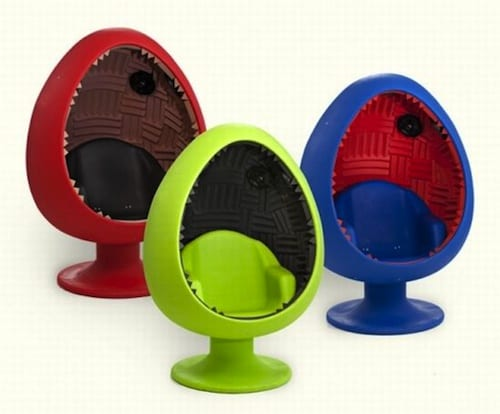 pod chair with acoustic sound system