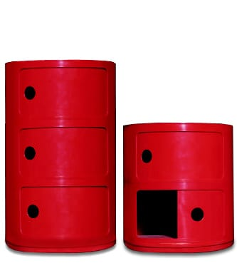 bright red night stands bedside tables