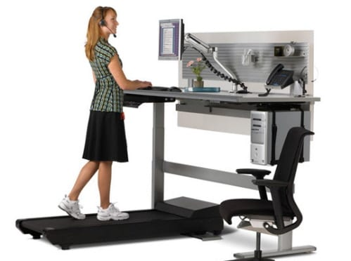 "The ""Sit to Walkstation"" Treadmill Computer Workstation"