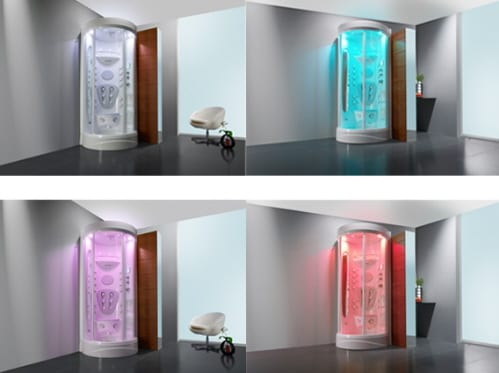 showers with chromotherapy