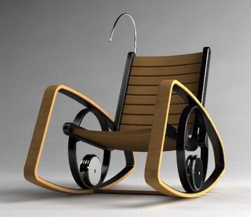 Rocking Chair With Reading Light