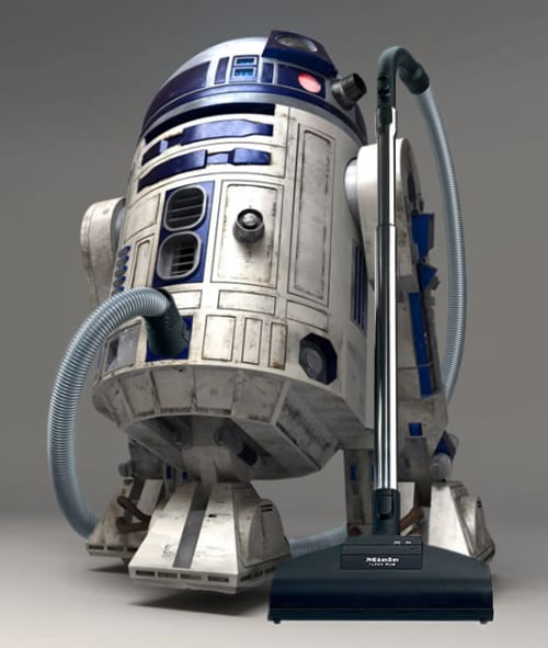 R2VAC2 Vacuum Cleaner Doesn't Like the Dark Side of the Force & Dirt
