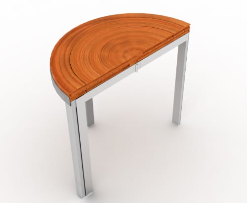 RoTenSion Table Combines Wood and Metal for Unique Table Design