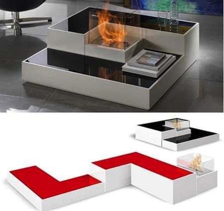 Modular Tetris Fireplace By Horus