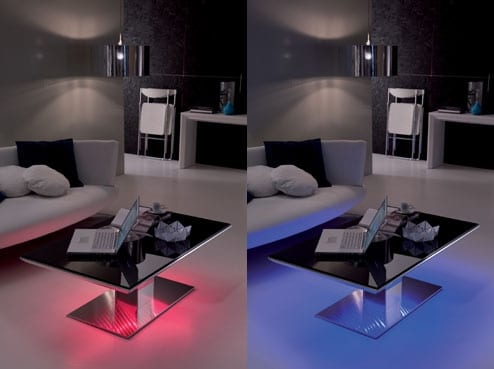 Flat And e-Motion LED Lit Tables By Ozzio 1