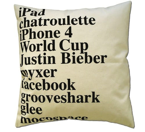 2010 Google Search Pillow by ElastiCo