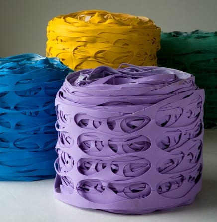 Latex Roll Pouf Encourages Upcycling