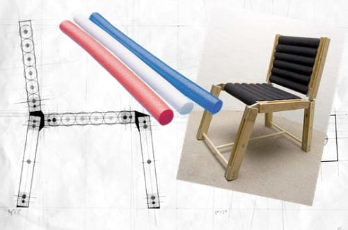 Do-It-Yourself Chair Employes Regular Pool Noodles 10