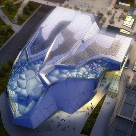 Futuristic And Modern Civic Sports Center and Games Arena In China 10