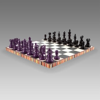 The Paul Smith Limited Edition Chess Set In Leather And Felt