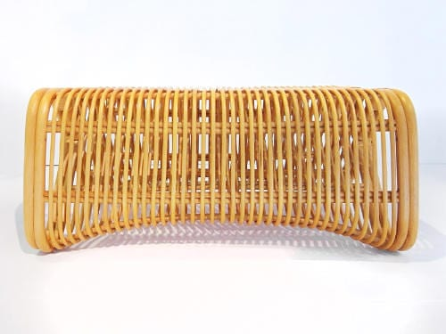 Pretzel Bench by Abie Abdillah is Comfortable Rattan Seating 14
