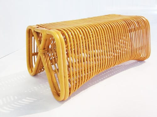 Pretzel Bench by Abie Abdillah is Comfortable Rattan Seating 10