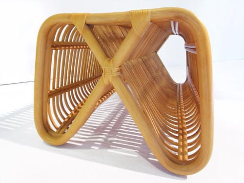 Pretzel Bench by Abie Abdillah is Comfortable Rattan Seating 11