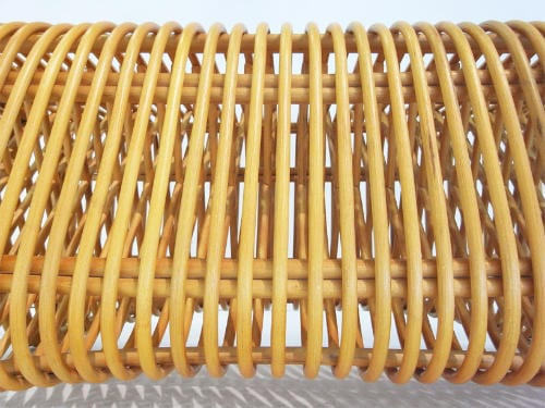 Pretzel Bench by Abie Abdillah is Comfortable Rattan Seating 15