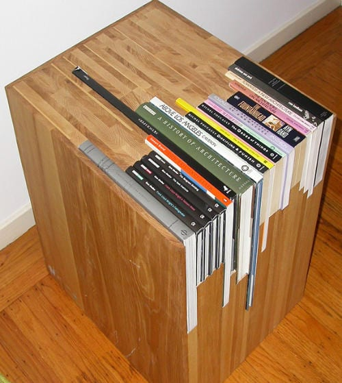 Custom Stacked Book Side Table Costs $1,800  9