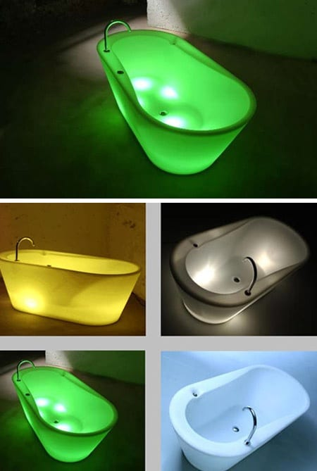 modern bathtubs with internal lighting