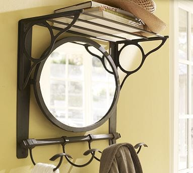 Vintage Iron Mirror Train Rack