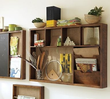 traditional wall-mounted system organizer