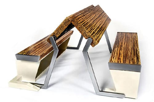 Legato Studio Dinner Table Turns Into a Bench in an Instant 7