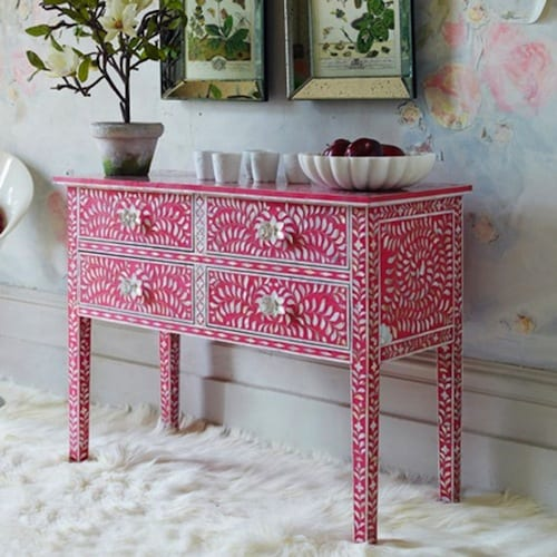 pink mother of pearl furniture